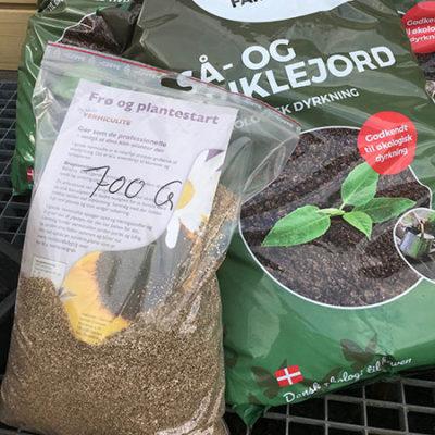 Så- og priklejord og vermiculite